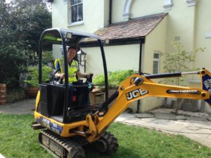Ivan on the digger